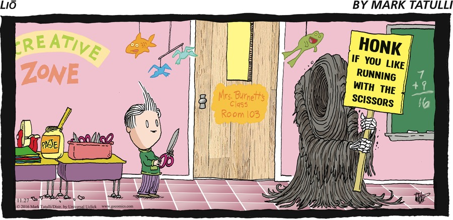 Lio Comic Strip for November 27, 2016