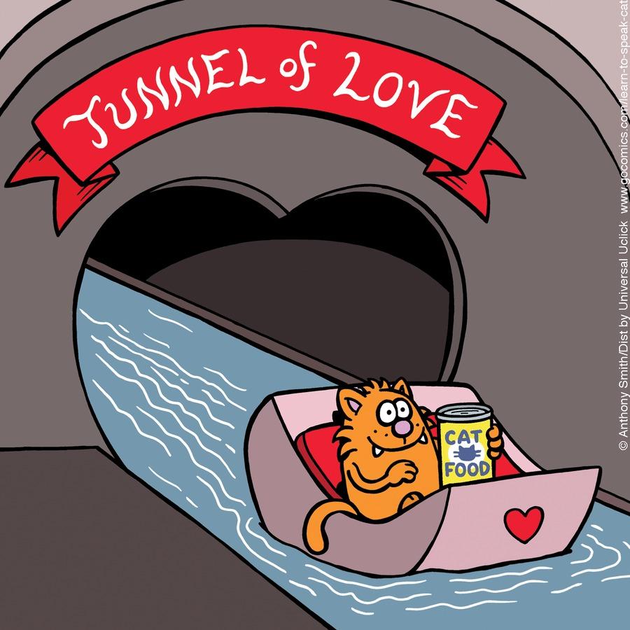 Learn to Speak Cat Comic Strip for February 14, 2021