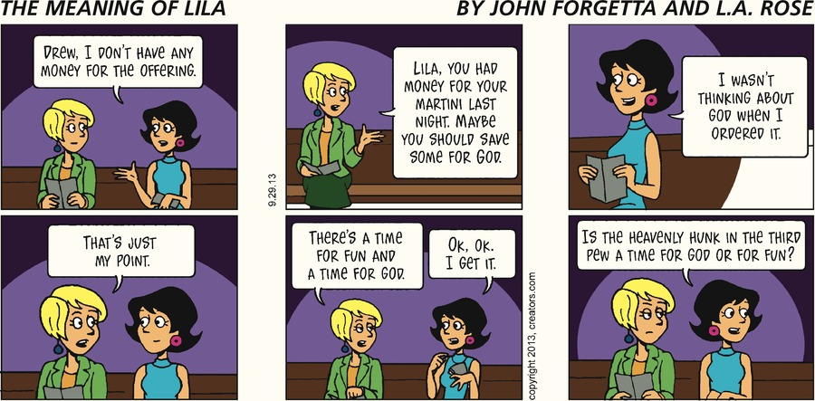 The Meaning of Lila for Sep 29, 2013 Comic Strip