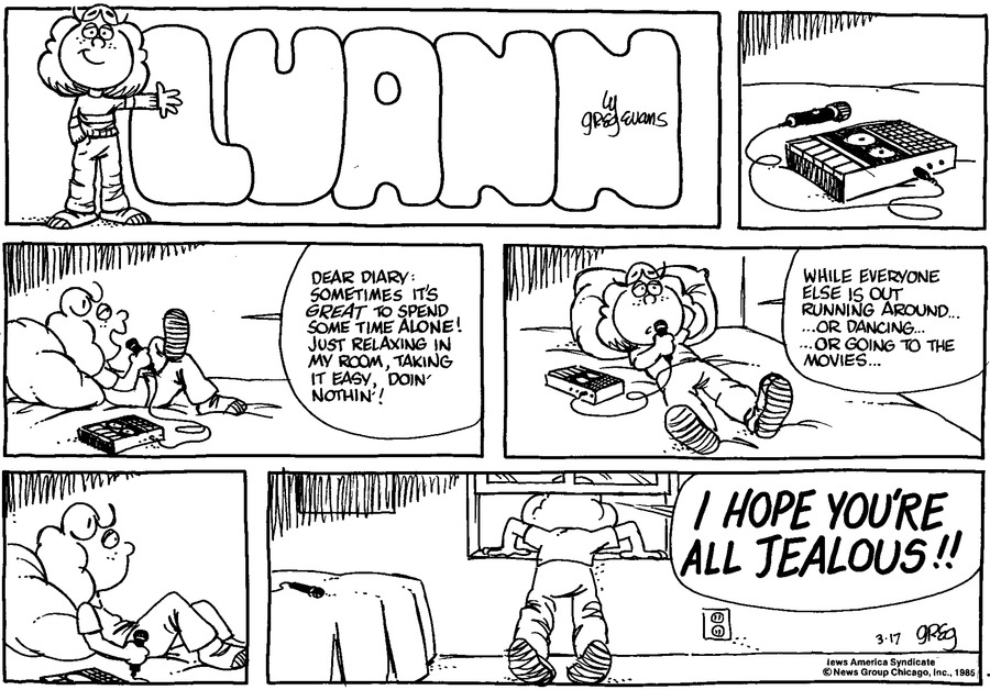 Luann Againn Comic Strip for March 17, 2013