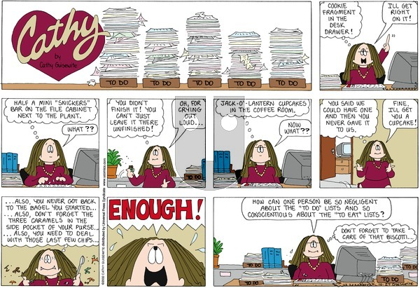 Cathy on Sunday October 27, 2013 Comic Strip