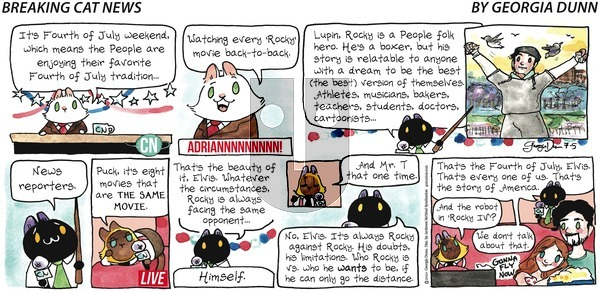 Breaking Cat News on Sunday July 5, 2020 Comic Strip