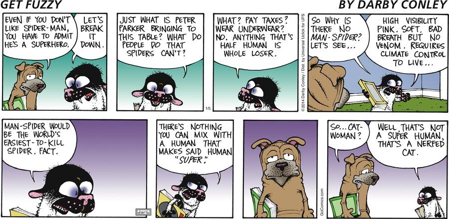 Get Fuzzy for Jan 5, 2014 Comic Strip