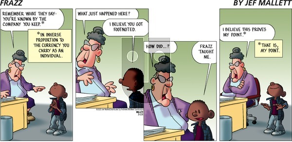Frazz on Sunday March 22, 2020 Comic Strip