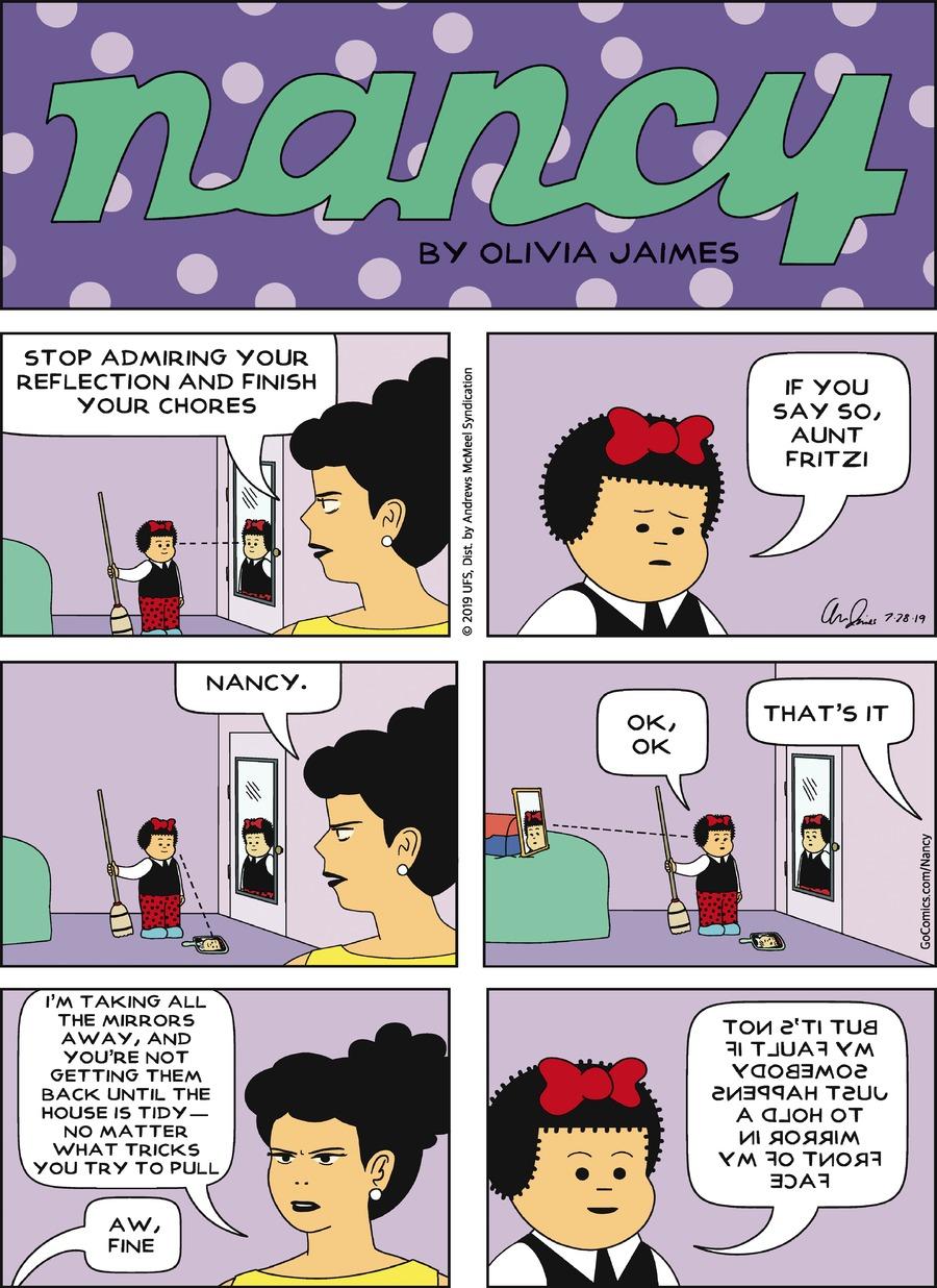Nancy Comic Strip for July 28, 2019