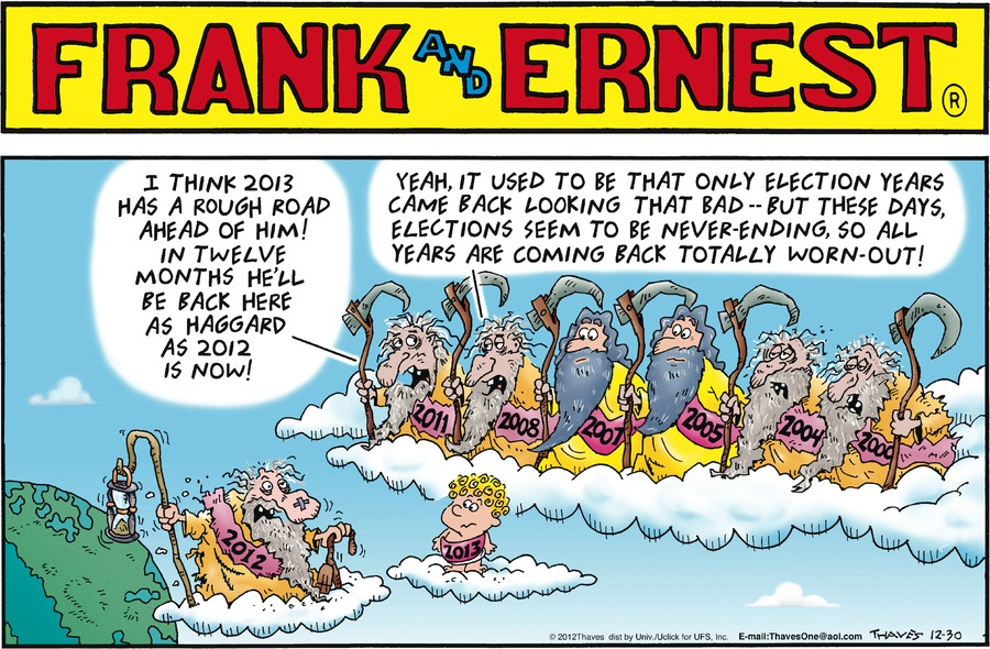 Frank and Ernest for Dec 30, 2012 Comic Strip
