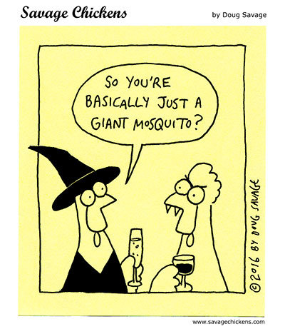 Savage Chickens Comic Strip for October 29, 2020