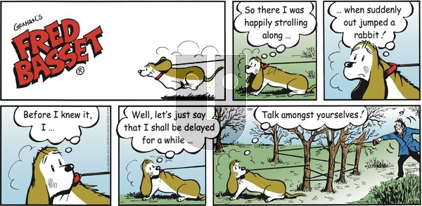 Fred Basset on Sunday April 7, 2019 Comic Strip