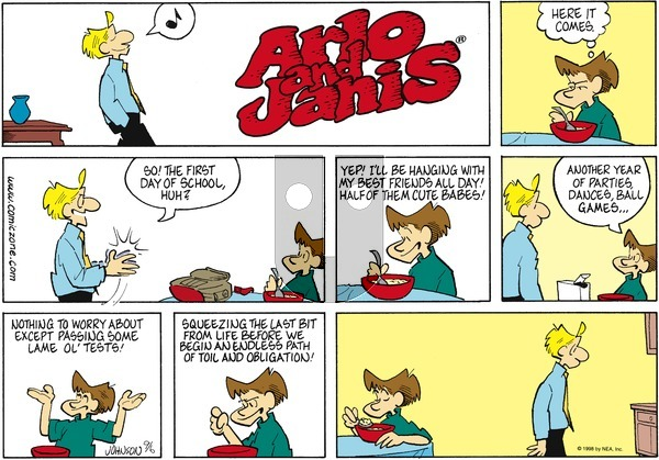 Arlo and Janis on Sunday September 6, 1998 Comic Strip