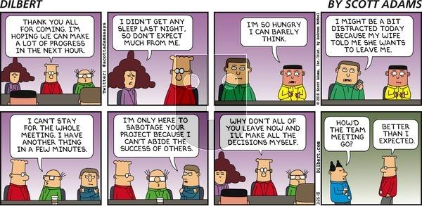 Dilbert on Sunday March 25, 2018 Comic Strip