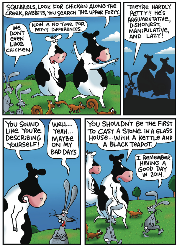 2 Cows and a Chicken by Steve Skelton for July 12, 2019