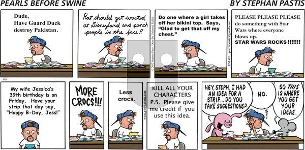 Pearls Before Swine on Sunday August 26, 2012 Comic Strip