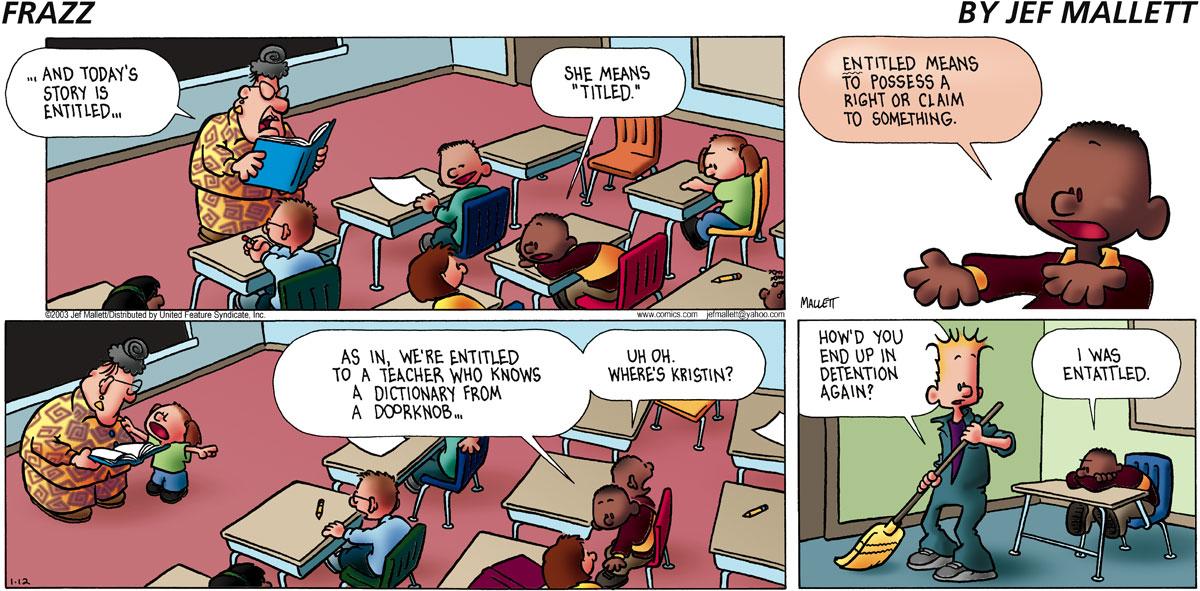 Frazz Comic Strip for January 12, 2003