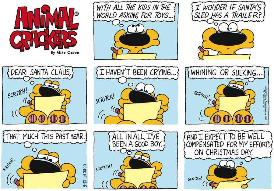 Animal Crackers Comic Strip for December 08, 2019