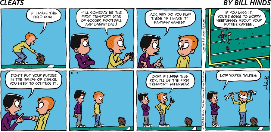 Cleats Comic Strip for November 09, 2008