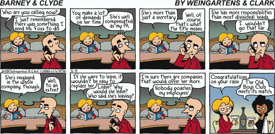 Barney & Clyde Comic Strip for April 11, 2021