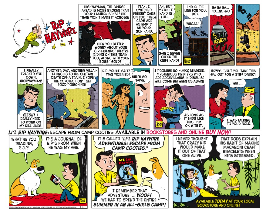 Rip Haywire Comic Strip for August 21, 2016