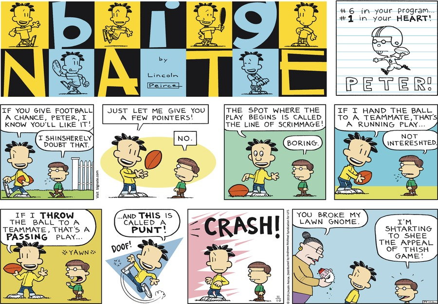 Big Nate Comic Strip for November 10, 2019