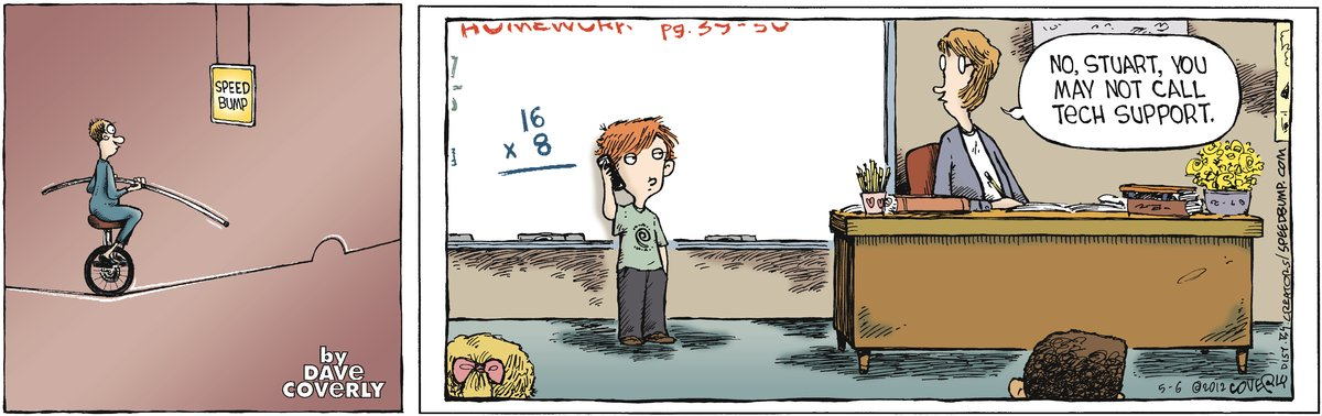 Speed Bump Comic Strip for May 06, 2012