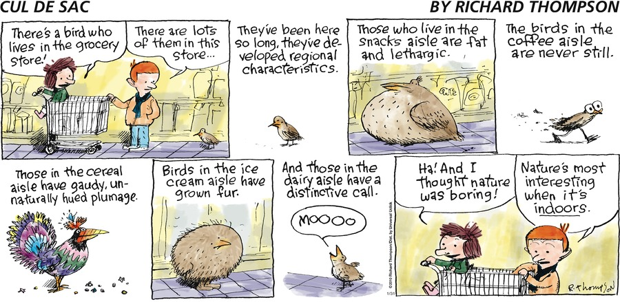Cul de Sac Comic Strip for January 31, 2010