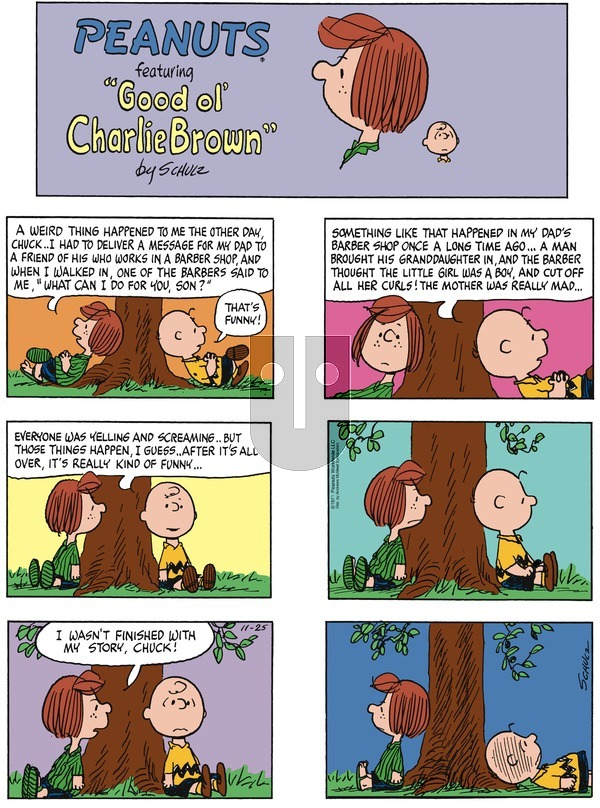 Peanuts on November 25, 2018 Comic Strip