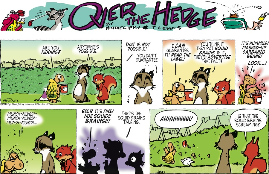 Over the Hedge for May 4, 2014 Comic Strip