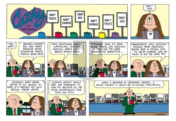 Cathy Classics on Sunday September 8, 1996 Comic Strip
