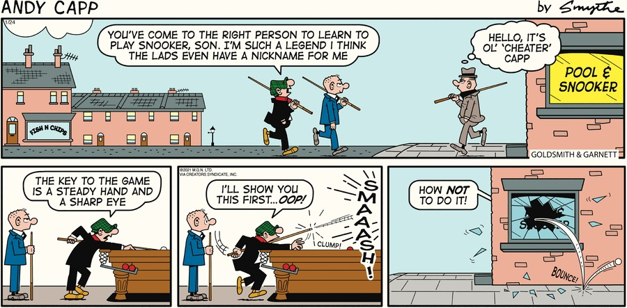 Andy Capp Comic Strip for January 24, 2021