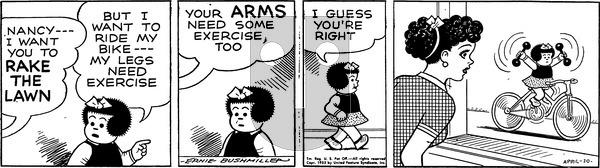 Nancy - Sunday April 10, 1955 Comic Strip
