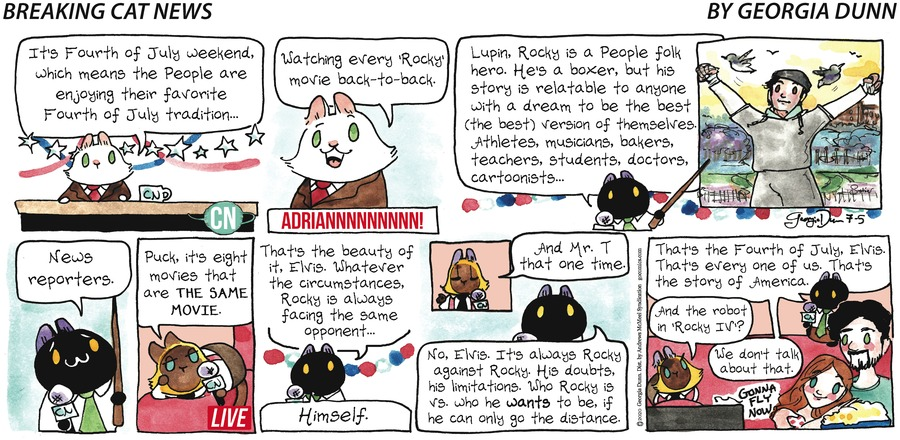 Breaking Cat News Comic Strip for July 05, 2020