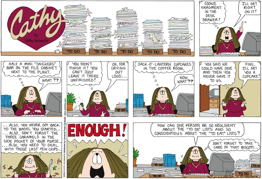 Cathy for Oct 27, 2013 Comic Strip