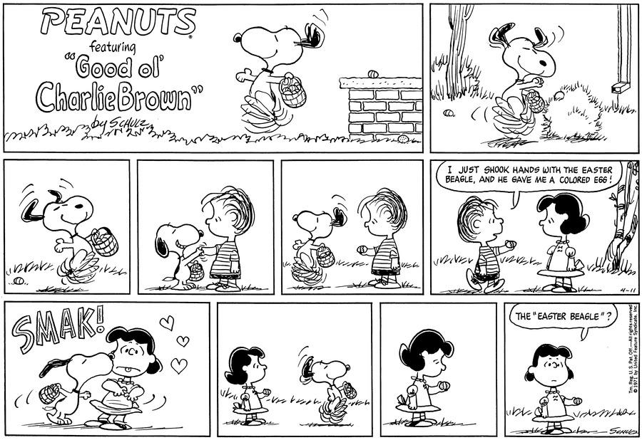 Peanuts Comic Strip for April 11, 1971