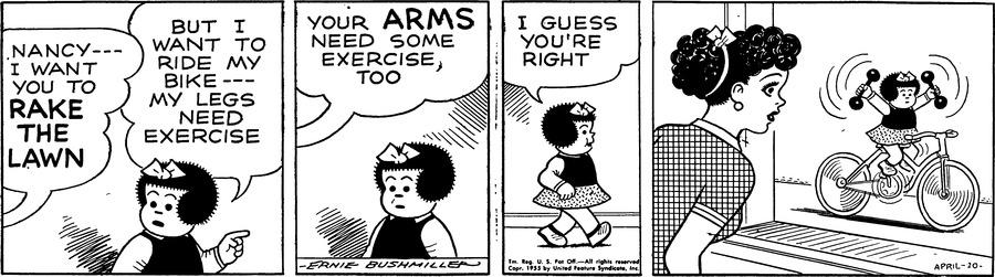 Nancy Comic Strip for April 10, 1955