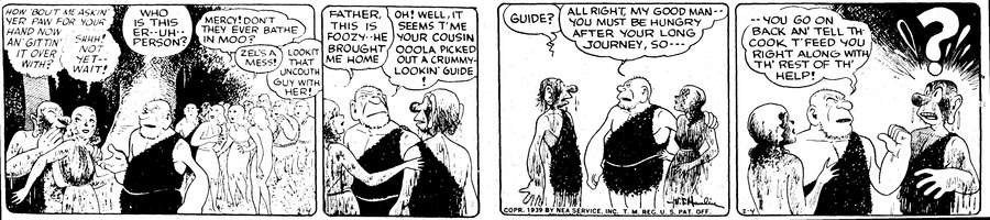 Alley Oop Comic Strip for February 04, 1939