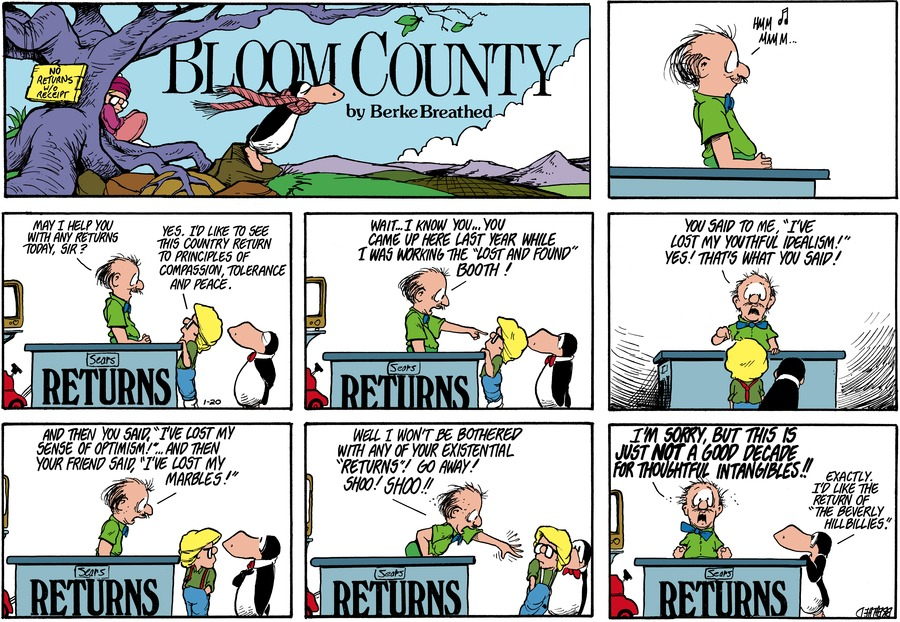 Bloom County Comic Strip for December 25, 2020