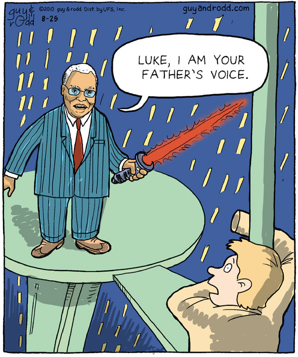 James Earl Jones: Luke, I am your father's voice.