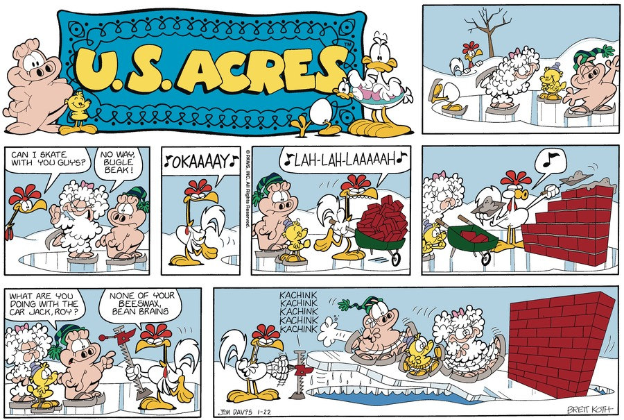 U.S. Acres Comic Strip for January 22, 1989