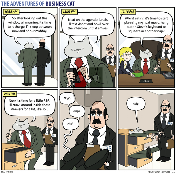 The Adventures of Business Cat on Monday October 2, 2017 Comic Strip