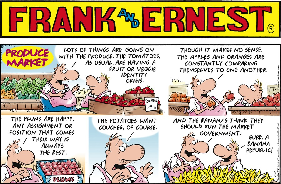 Frank and Ernest Comic Strip for July 28, 2019