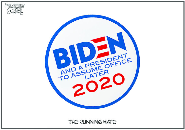 Bob Gorrell Comic Strip for July 30, 2020
