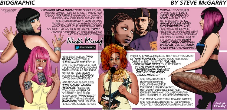 Biographic - Sunday February 9, 2020 Comic Strip