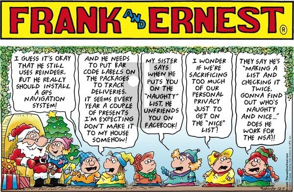 Frank and Ernest on Sunday December 7, 2014 Comic Strip