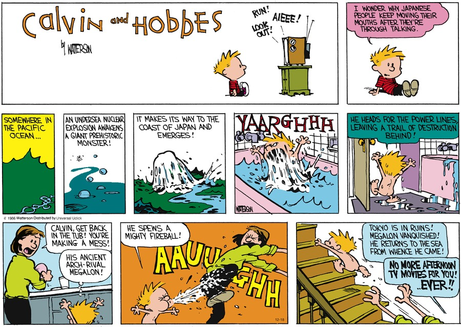 Calvin and Hobbes Comic Strip for December 18, 2016