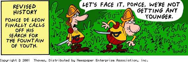 Frank and Ernest Comic Strip for July 12, 2001