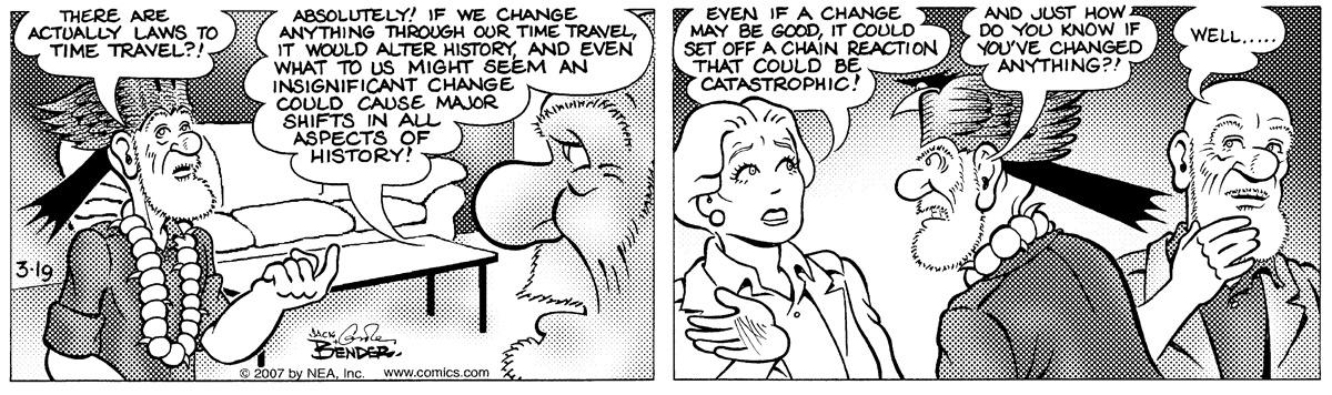 Alley Oop for Mar 19, 2007 Comic Strip