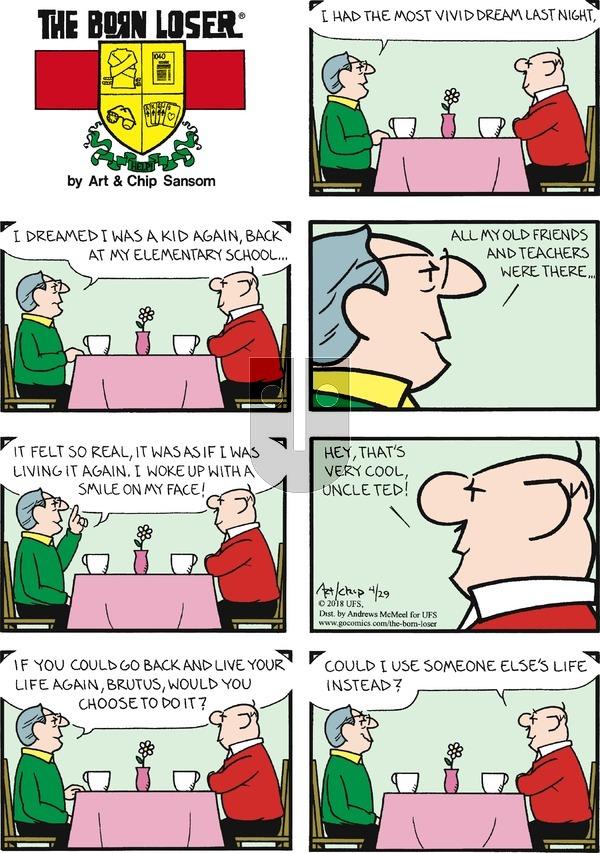The Born Loser on Sunday April 29, 2018 Comic Strip