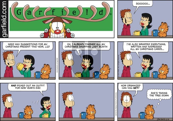 Garfield on December 9, 2018 Comic Strip