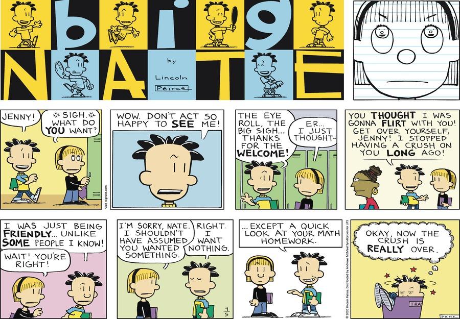 Big Nate Comic Strip for April 05, 2020