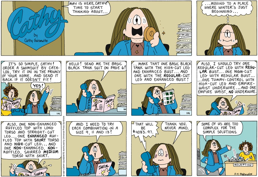 Cathy Comic Strip for May 04, 1997
