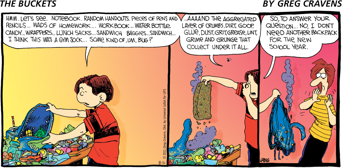 The Buckets for Aug 21, 2011 Comic Strip